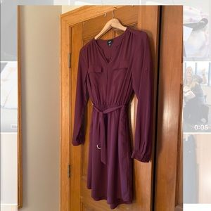 Mossimo Burgundy Dress | XS | Belted
